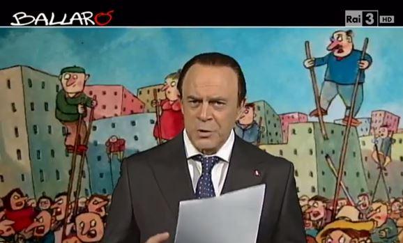 Ballarò, puntata 26 novembre, copertina satirica di Maurizio Crozza sulla decadenza di Silvio Berlusconi – VIDEO