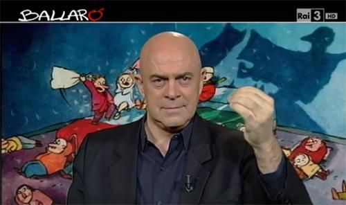Ballarò, puntata 12 novembre, copertina satirica di Maurizio Crozza sulla legge di stabilità e la vendita delle spiagge – VIDEO