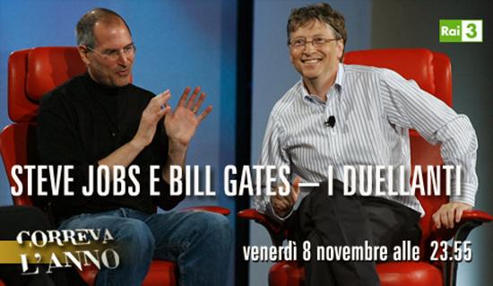 Correva l'anno: Steve Jobs e Bill Gates – I duellanti, stasera su RaiTre a partire dalle 23.55