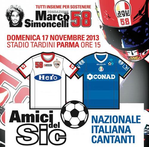 Tutti insieme per Simoncelli, match benefico in diretta su Sky Sport con Moreno e Alessandro Casillo tra gli altri