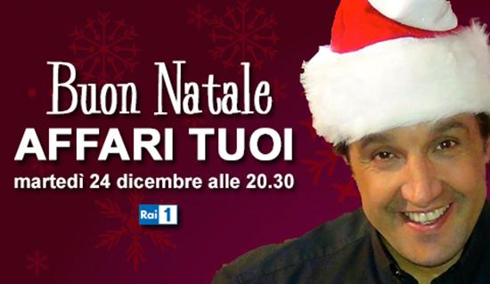 Buon Natale Affari Tuoi: stasera a partire dalle 20.30 l'appuntamento speciale con Flavio Insinna