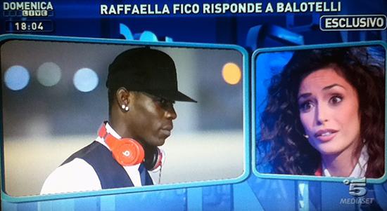 """Raffaella Fico a Domenica Live risponde a Mario Balotelli: """"Mi vuol far passare per la poco di buono che vuole il suo danaro"""""""