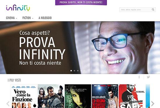 Infinity, vasta offerta di film on demand in streaming: 20 mila attivazioni in meno di dieci giorni
