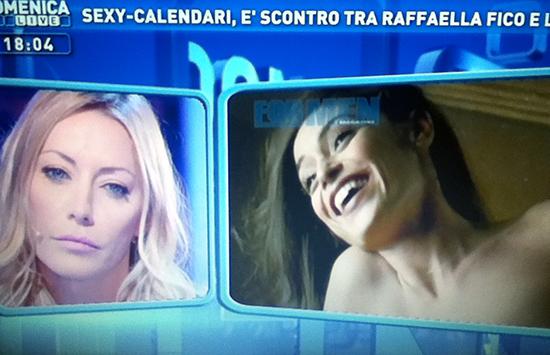 """Domenica Live, Karina Cascella VS Raffaella Fico: """"Una baggianata, deve rivalutare il concetto di lavoro"""""""