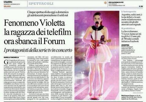 Violetta manda in delirio Milano; la gaffe di Repubblica che la scambia per la cantante di X Factor