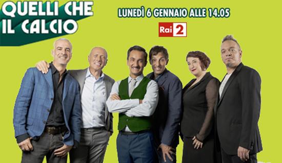 Quelli che il calcio, la nuova puntata: Rocco Papaleo, Caterina Balivo e Raoul Casadei tra gli ospiti