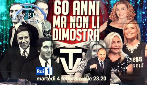 Porta a Porta, stasera su RaiUno nuova puntata dedicata ai 60 anni della Rai