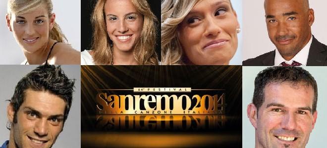 Sanremo 2014: tutti gli sportivi del Festival