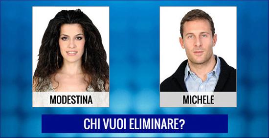 Grande Fratello 13, anticipazioni terza puntata 17 marzo: chi verrà eliminato tra Michele e Modestina?