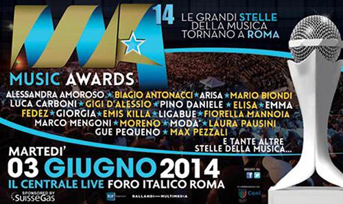 Music Awards 2014, stasera in diretta su RaiUno: tutti gli artisti premiati, da Marco Mengoni a Emma