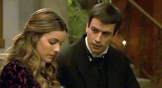 Il Segreto anticipazioni puntata serale domenica 15 giugno 2014: Pepa e Tristan verso le nozze, Olmo non vuole Soledad