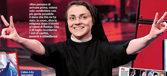 The Voice 2, Suor Cristina, la promozione e il tour mondiale: 'Mi attengo alle decisioni dei superiori e della Provvidenza'