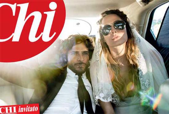 Marco Bocci e Laura Chiatti e l'esclusiva a Chi, nozze con occhiali da sole: tamarri o rock? – FOTO