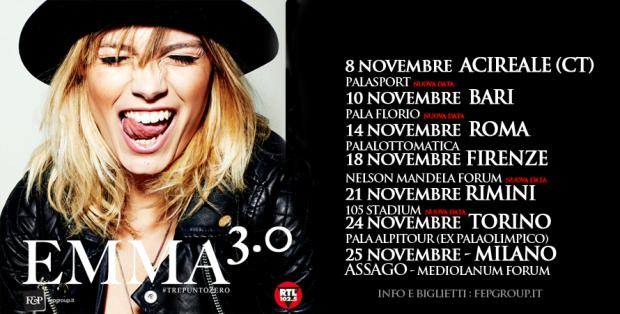 Emma Marrone: a novembre si riparte con l'Emma 3.0, ecco tutte le date e le info degli ultimi concerti