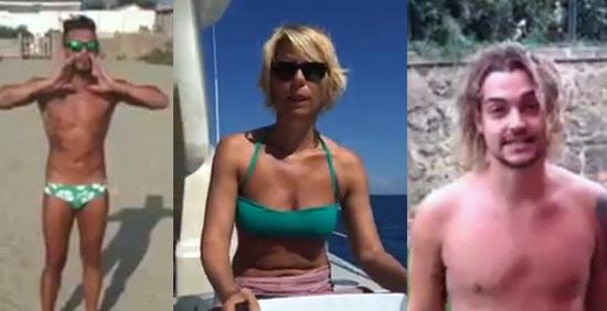 l'Ice Bucket Challenge anche per Marco Carta, Valerio Scanu, Maria De Filippi, Barbara d'Urso e tanti altri
