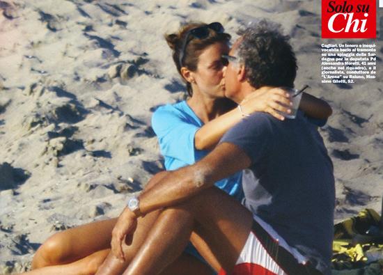 Massimo Giletti in love in spiaggia con la renziana Alessandra Moretti: fiori d'arancio in vista?