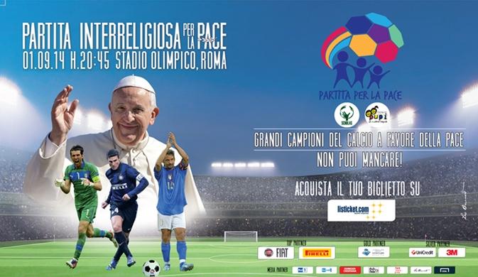 Partita Interreligiosa per la Pace, stasera su RaiUno l'evento voluto da Papa Francesco
