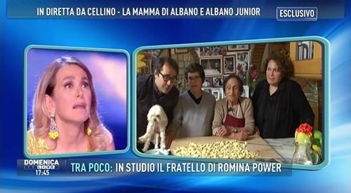 """Domenica Live, il figlio di Al Bano contro Barbara d'Urso: """"Le polpette gliele dai al tuo fidanzato"""" – FOTO"""