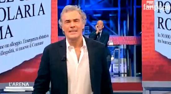 Massimo Giletti sofferente a L'Arena: malore in diretta tv – VIDEO