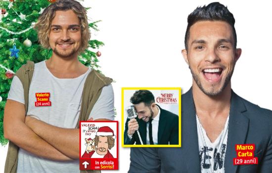Marco Carta e Valerio Scanu, i CD natalizi in edicola con Sorrisi e Canzoni Tv: quale scegliere?