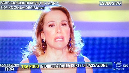 Pomeriggio Cinque, la diretta: caso Fabrizio Corona in attesa della decisione della Corte di Cassazione