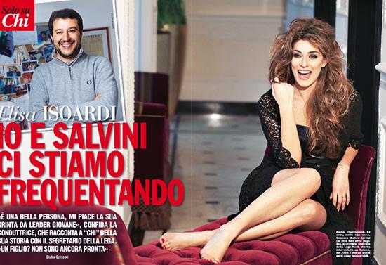 Elisa Isoardi in love con Matteo Salvini, leader della Lega: 'E' una bella persona!'