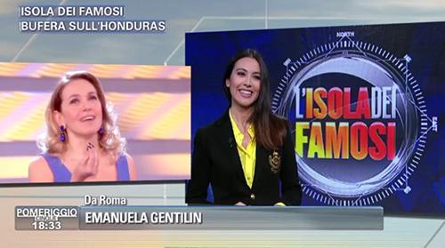"""Isola dei Famosi 2015, la gaffe dell'inviata di Pomeriggio Cinque: """"Catherine Spaak la più anziana"""""""