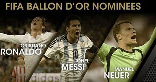 Pallone d'Oro 2014, diretta tv e streaming della cerimonia: chi vincerà tra Ronaldo, Messi e Neuer?
