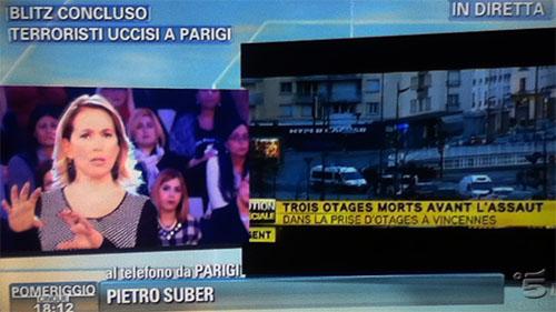 Attacchi terroristici di Parigi e Dammartin-En-Goele: la programmazione Mediaset di oggi 9 gennaio