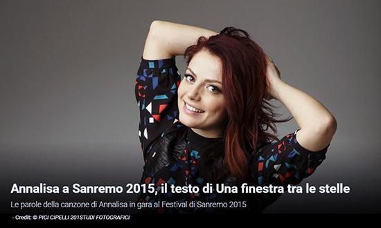 Festival di sanremo 2015 i testi annalisa con una - Finestra tra le stelle ...