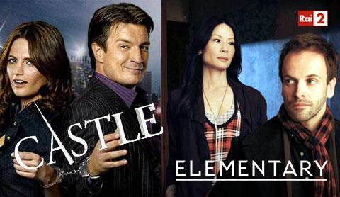 Serie Tv, stasera 7 febbraio: Castle ed Elementary su RaiDue, anticipazioni episodi e replica streaming