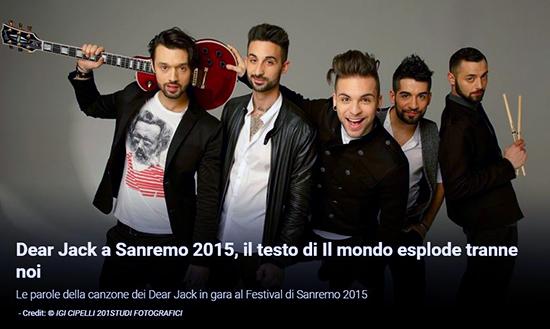 Sanremo 2015, pronostici: Il Volo superfavoriti, Raf scalza i Dear Jack