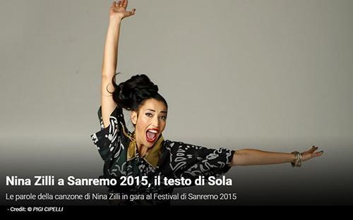 """Festival di Sanremo 2015, i Testi: Nina Zilli con """"Sola"""""""