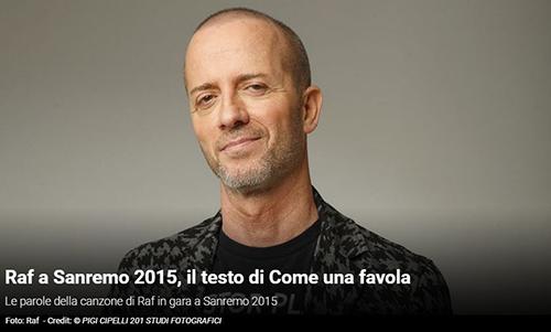 """Festival di Sanremo 2015, i Testi: Raf con """"Come una favola"""""""