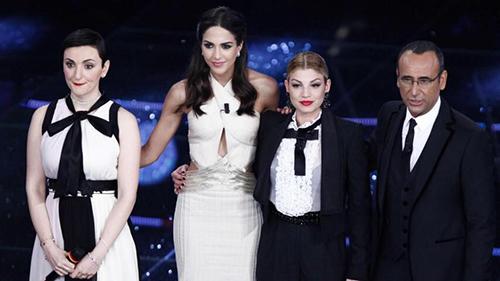 """Sanremo 2015: Carlo Conti """"primadonna"""" del Festival, promossa la complicità tra Emma e Rocio Munoz Morales"""