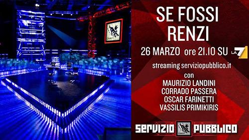 Anticipazioni Servizio Pubblico, puntata 26 marzo: ospiti e diretta streaming
