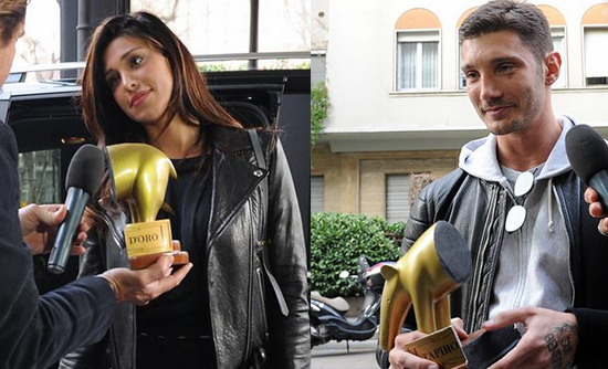 Belen Rodriguez e Stefano De Martino: Tapiro d'Oro di Striscia la Notizia diviso in due
