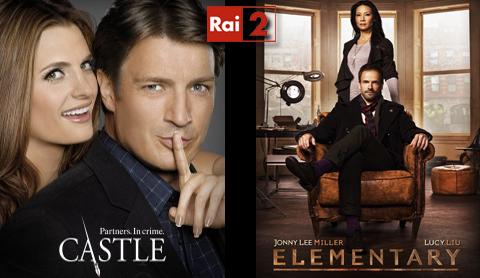 Serie Tv, stasera 21 marzo su RaiDue: Castle ed Elementary anticipazioni e replica streaming