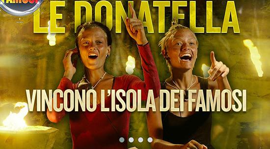 Isola dei Famosi 2015: vincono Le Donatella, secondo Brice, terza Cecilia e (grazie a Rocco) quarto Valerio Scanu