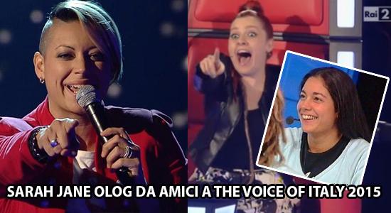 The Voice of Italy 2015: ecco chi è passato alle terze Blind Audition, tra gli altri Sarah Jane Olog da Amici 2003-2004