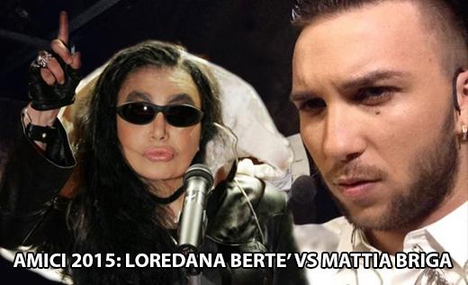 """Anticipazioni Amici serale 2015, Loredana Bertè contro Mattia Briga: """"Cambia lavoro!"""", news dettagliate"""