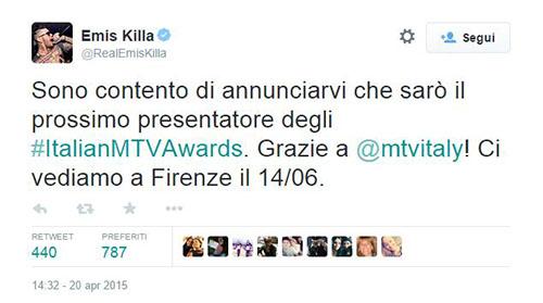 MTV Awards 2015: Emis Killa conduttore, l'evento il 14 giugno da Firenze in diretta tv