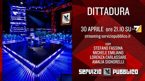 Anticipazioni Servizio Pubblico, puntata 30 aprile: gli ospiti e diretta streaming