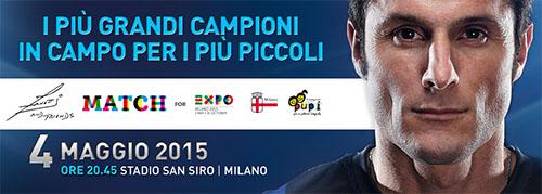 Zanetti and Friends Match For EXPO Milano 2015, stasera la partita di beneficienza: conduttori e sportivi in campo