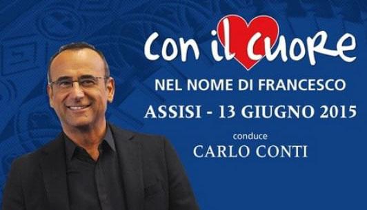 Con il cuore – Nel nome di Francesco, stasera 13 giugno su RaiUno con Carlo Conti: Il Volo tra gli ospiti