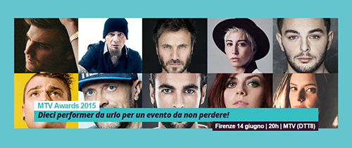 MTV Awards 2015: stasera 14 giugno dalle 20 con Stash and The Kolors, Marco Mengoni, Fedez e molti altri