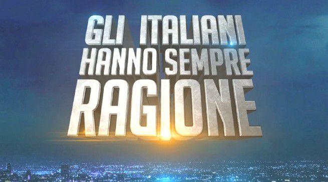 Ascolti Tv, 10 luglio: Gli Italiani hanno sempre ragione a 2,4 mln; Segreti e delitti a 1,6 mln
