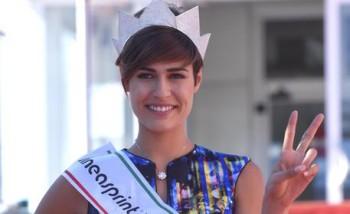 Miss Italia 2015 Alice Sabatini, Jesolo, 21 Settembre 2015.  ANSA/RICCARDO DALLE LUCHE