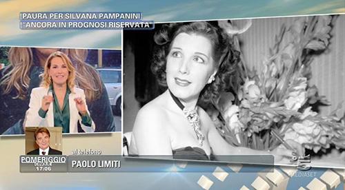 Pomeriggio Cinque: Silvana Pampanini in netto miglioramento, ecco gli aggiornamenti