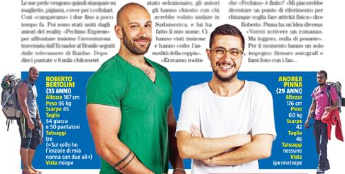 Pechino Express 2015, Andrea Pinna e Roberto Bertolini si raccontano: 'Non siamo poi così diversi'